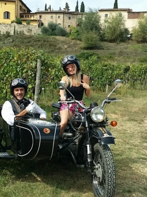 Sidecar tour in Chianti