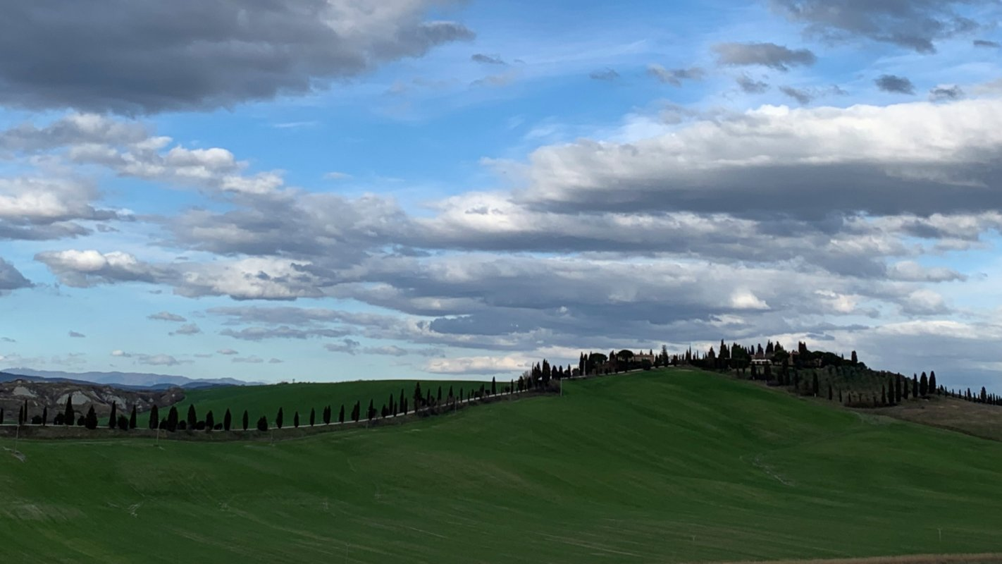 landscape from San Miniato to Siena
