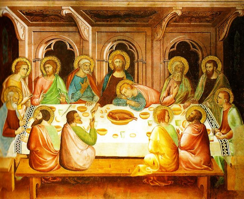 Last Supper by Lippo Memmi in the Cathedral of San Gimignano