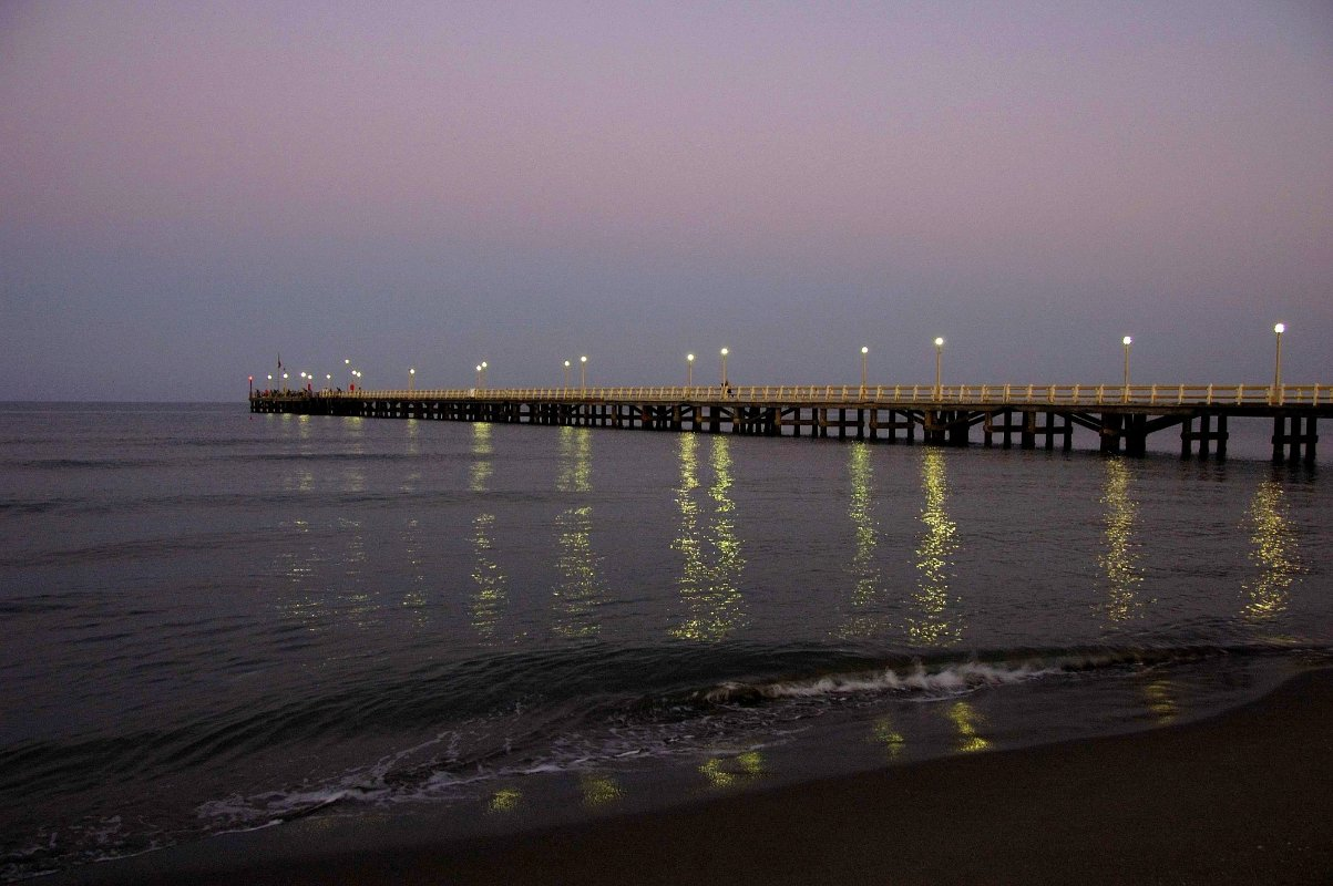 Sunrise at Forte dei Marmi jetty