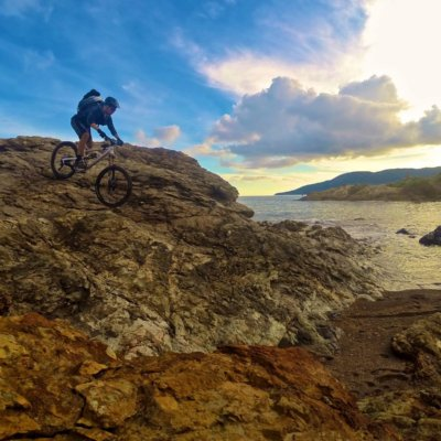 In mountain bike all'Isola d'Elba