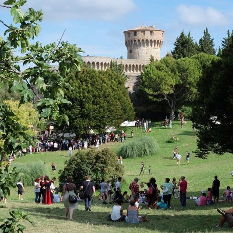 "The archaeological Park ""Enrico Fiumi"" during Volterra AD 1398"