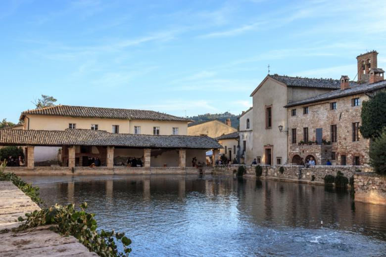 The main square in Bagno Vignoni