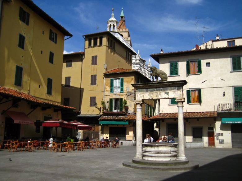 One of the central squares of Pistoia