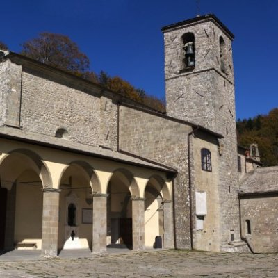 A panoramic view of the Sanctuary of La Verna