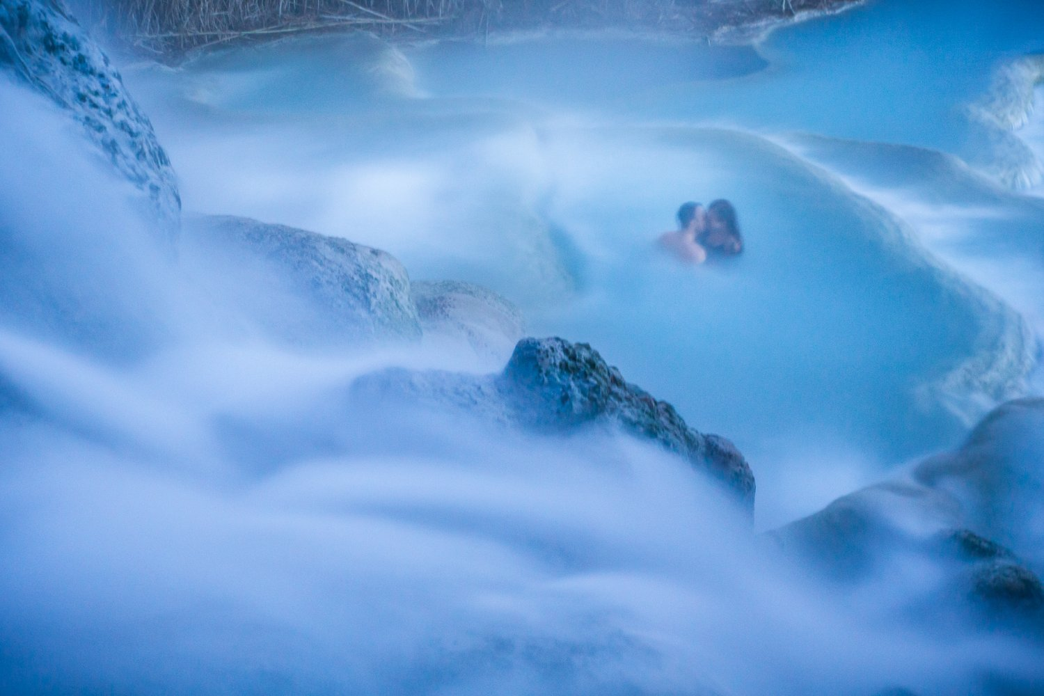 Cascate del Mulino hot springs in Saturnia