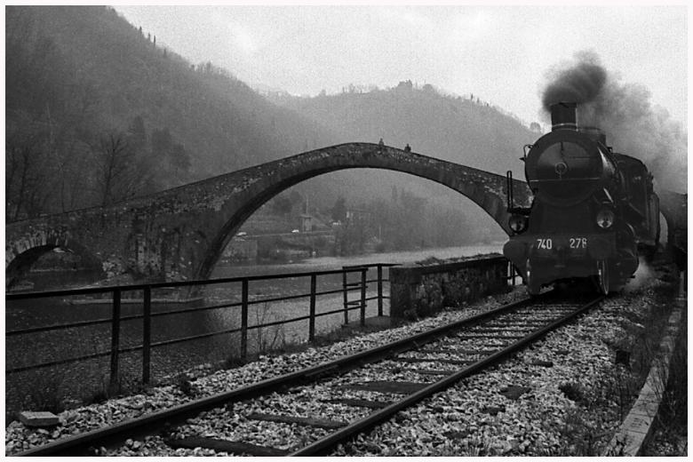 Steam train in Garfagnana