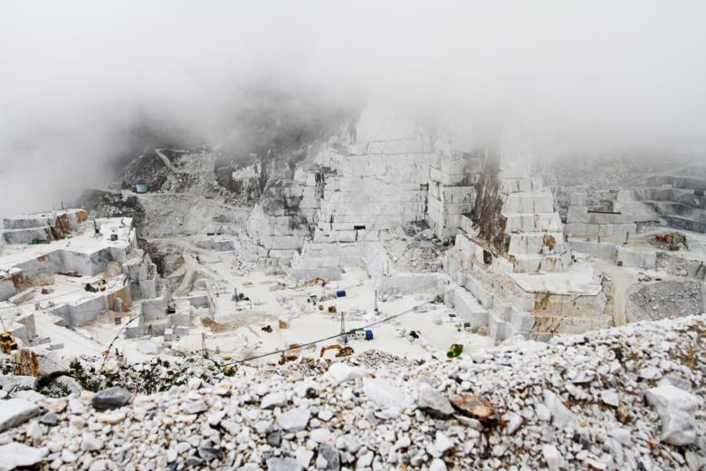 Marble quarries in Carrara
