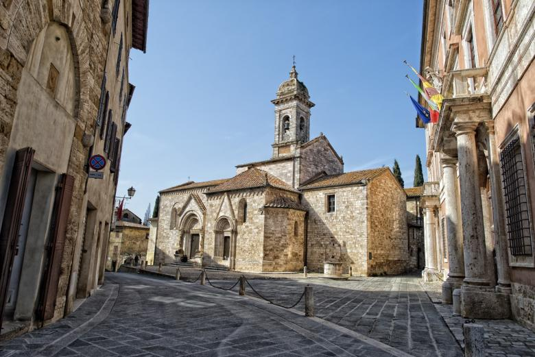 The Collegiate Church of Santi Quiricio e Giulitta in San Quirico d'Orcia
