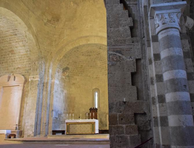 Inside the Cathedral of San Pietro in Sovana