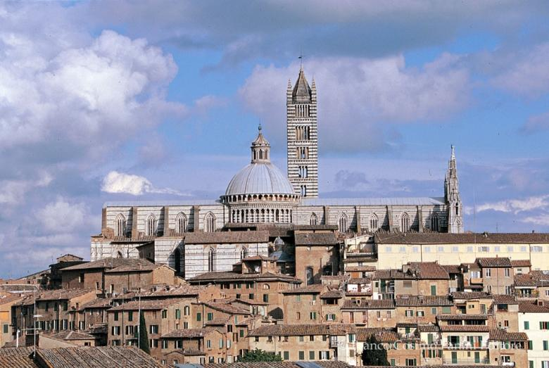 View of Siena and its cathedral