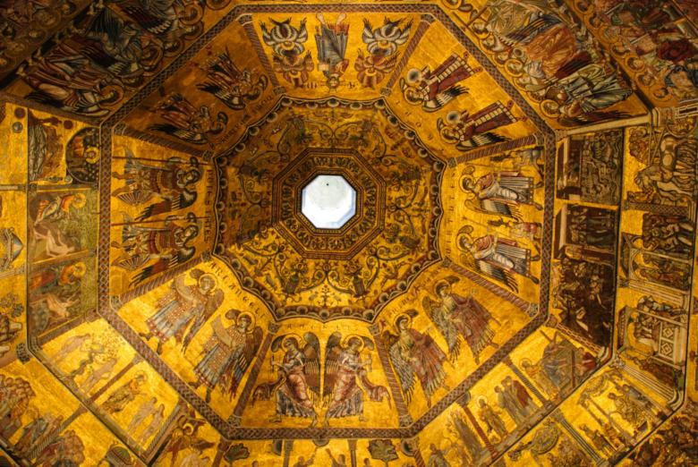 Ceiling of the baptistery in Florence