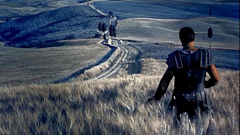 A scene of The Gladiator, shot near Pienza