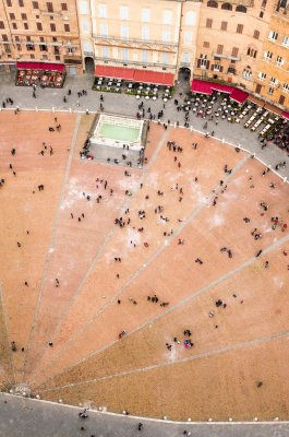 Piazza del Campo view from the Torre del Mangia
