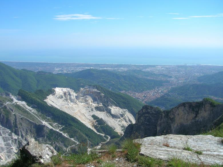 The marble quarries in Carrara