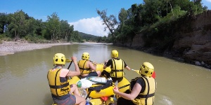 Rafting in the Marema, along the Ombrone river