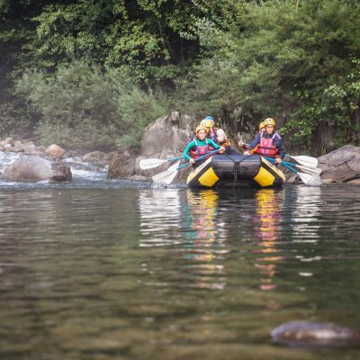 Rafting in the Lima river (Bagni di Lucca)