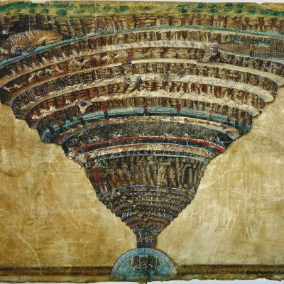 The map of Hell by Botticelli
