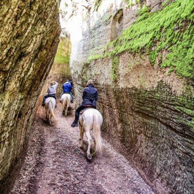 Horseback riding through the Vie Cave