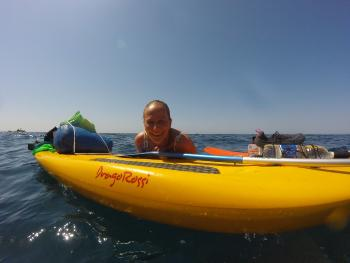 SUP experience along the coast of Piombino