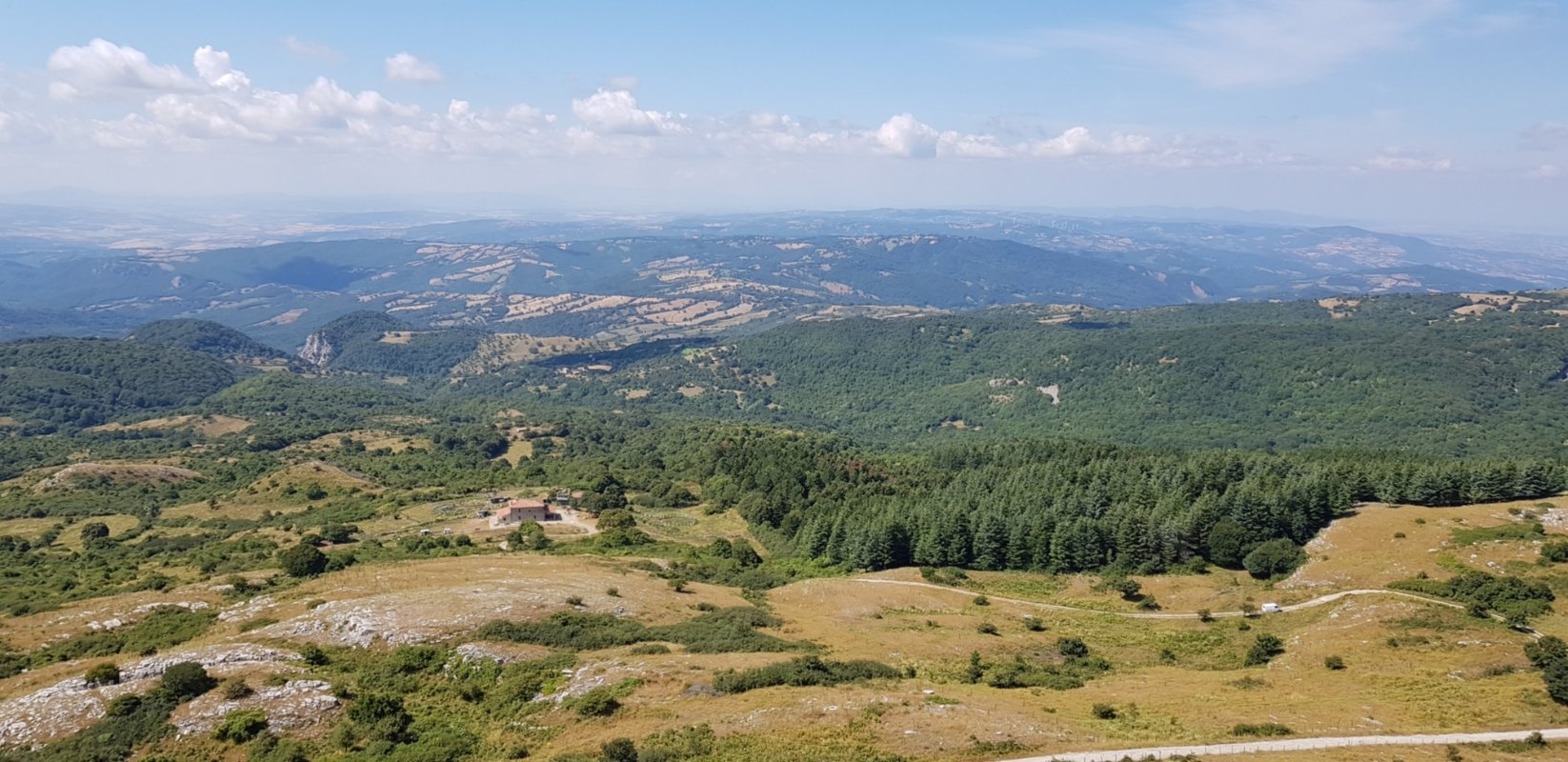 The view from Monte Labbro, Arcidosso