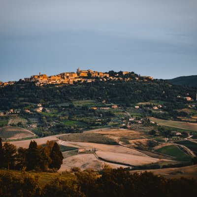 View of Montepulciano town